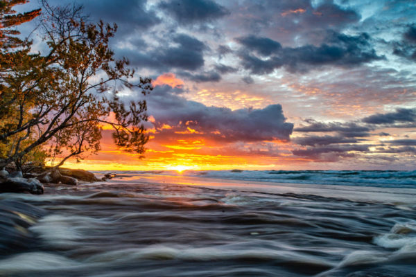 Hurricane River Sunset Pictured Rocks National Lakeshore Michigan